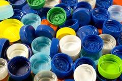 Plastic caps background Stock Image
