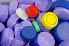 Plastic caps background Stock Photography