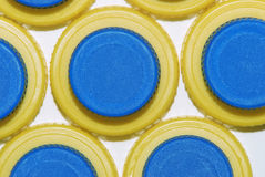 Plastic caps Stock Images
