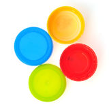 Plastic Caps of the bottle Stock Images