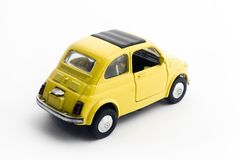 Plastic car. A little model of an old italian car Stock Image