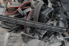 Plastic car parts for recycle. Stock Images