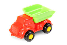 Plastic car toy on white background Stock Images