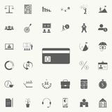 A plastic card icon. Detailed set of Finance icons. Premium quality graphic design sign. One of the collection icons for websites,. Web design, mobile app on Stock Image