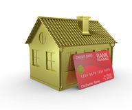 Plastic card payments for home Royalty Free Stock Image