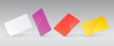 Plastic card presentation Stock Images