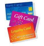 Plastic cards Royalty Free Stock Photos