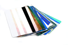 Plastic cards Royalty Free Stock Image