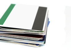 Plastic cards Royalty Free Stock Photo