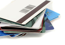 Plastic cards Stock Image