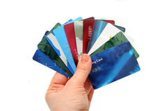Plastic cards Stock Photography