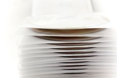 Plastic case with disk files Stock Photo