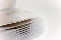 Plastic case with disk files Stock Photos