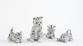 Plastic cat toys. Cat toys made from plastic isolated on a white background Stock Photos