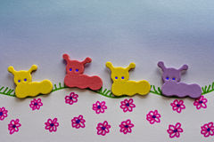 caterpillar foam toys Stock Images