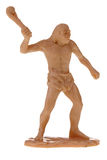 Plastic caveman toy. Plastic cave dweller man toy Royalty Free Stock Photography