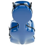 Plastic cello case with latch, top view Stock Images