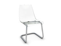 Plastic chair. With transparent seat Stock Photos