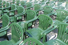 Plastic chair audience Stock Photos