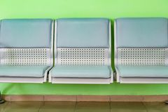 Plastic chair seats are light green Royalty Free Stock Images