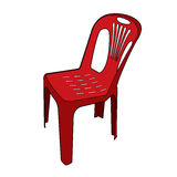 Plastic chair vector Stock Images