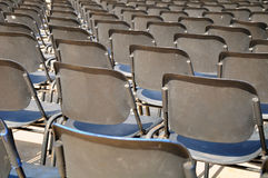 Plastic chairs. Royalty Free Stock Image