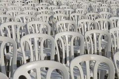 Plastic chairs Royalty Free Stock Photos