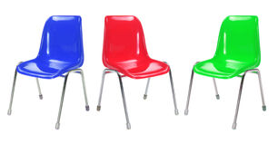 Plastic Chairs Royalty Free Stock Images