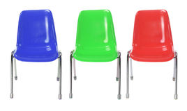 Plastic Chairs Stock Photography