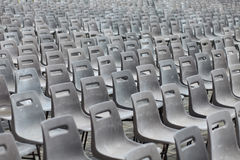 Plastic chairs Stock Image