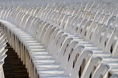 Plastic Chairs. In the street Royalty Free Stock Images