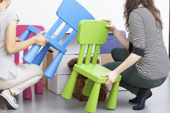 Free Plastic Chairs Stock Images - 38417434