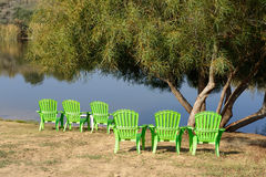 Plastic chairs Royalty Free Stock Photography