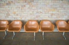 Plastic chairs Stock Photos