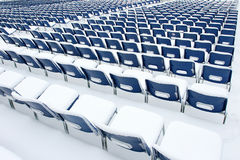 Plastic chairs covered in snow Stock Photography