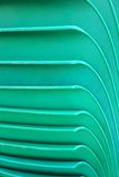 Plastic chairs green Royalty Free Stock Photography