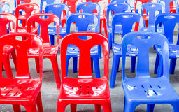 Plastic chairs Stock Images