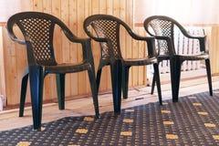 Plastic chairs Stock Photo