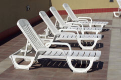 Plastic Chaise Stock Images