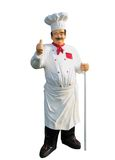 Plastic chef. Large plastic display figure of a chef Royalty Free Stock Photos