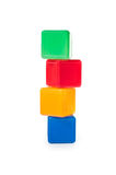 Plastic children's colored cubes Stock Photo