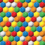 Plastic children's hexagon mosaic. Vector background. Stock Photo