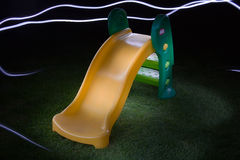 Plastic Childrens Slide Stock Image