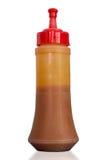 Plastic chilli sauce bottles Royalty Free Stock Photography