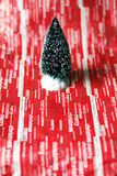 Plastic Christmas tree Stock Images