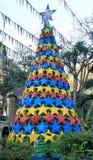 Plastic Christmas tree .  Palawan Island . Royalty Free Stock Images