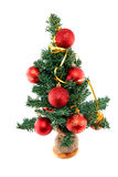Plastic christmas tree withred balls Stock Photo