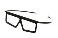 Plastic cinema glasses isolated on white Royalty Free Stock Photos
