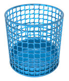Plastic circle container blue hole Stock Photo