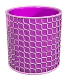 Plastic circle container purple pink Stock Photo
